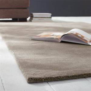 soft woollen low pile rug in beige 140 x 200cm maisons With tapis carré 200x200