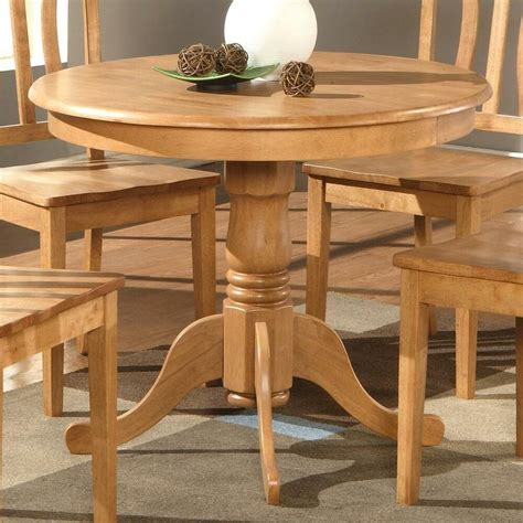 light oak  pedestal small dining table kitchen