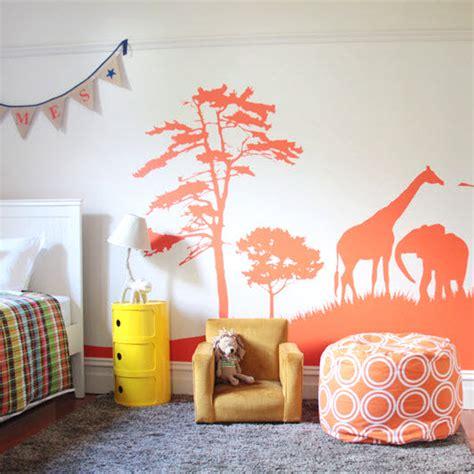 decoration murale pour chambre decoration murale chambre bebe kirafes