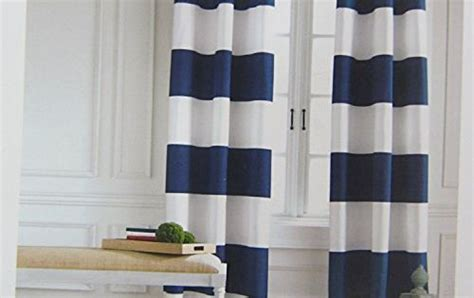 Tommy Hilfiger Cabana Stripe Curtains 2 Panels 50 By 96-inch Eyelet Heading Modern Window Drapes Grommet Top Patio Door Curtains Animal Print Window Hospital Curtain Rails South Africa Quick And Easy Double Rod Brackets Corner Bay Rods Uk How To Make A Shower For Clawfoot Tub Call Tickets Inc