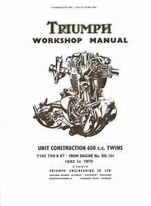 Triumph Shop Manual Bonneville Tiger Trophy Thunderbird