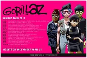 plastic photo album gorillaz plot 2017 american quot humanz quot tour