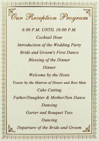 best 25 wedding reception program ideas on pinterest