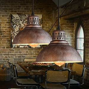 Pc industrial loft pendant lamp iron vintage bar cafe