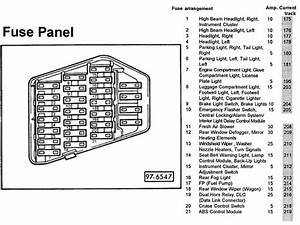 98 Audi A4 Fuse Box