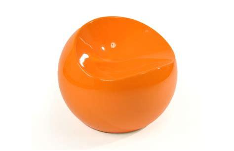 fauteuil pouf design orange comfy ball miliboo