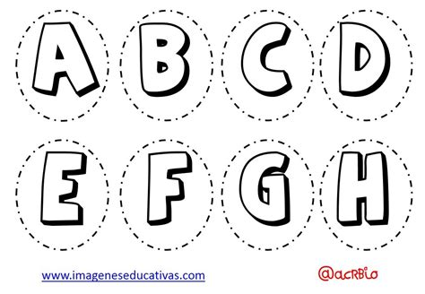 Abecedario para colorear y numeros (1) Imagenes Educativas