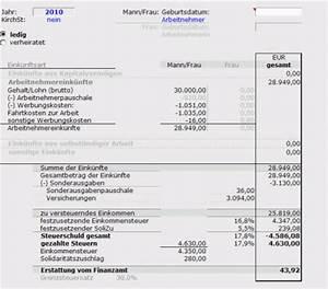 Werbungskosten Berechnen : berechnung der einkommensteuer f r arbeitnehmer ~ Themetempest.com Abrechnung