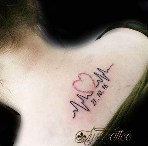 Tatouage Battement De Coeur Tatouage Moto Battement De Coeur