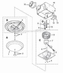 Nutone Decorative Ventilation Fan With Light