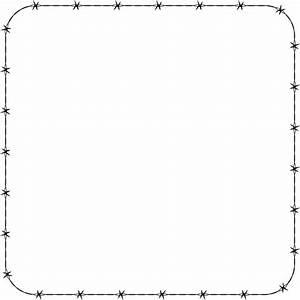 Barbed Wire Border Clip Art (27+)