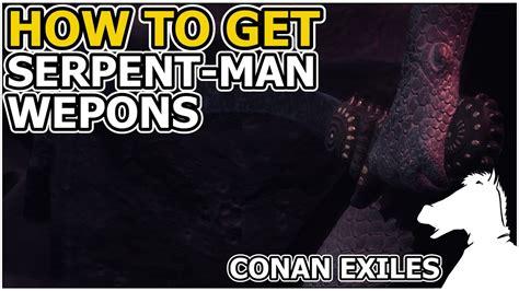 serpent man weapons recipe conan exiles youtube