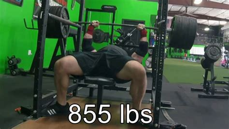 855 Lb Bench Press (lockout) Youtube