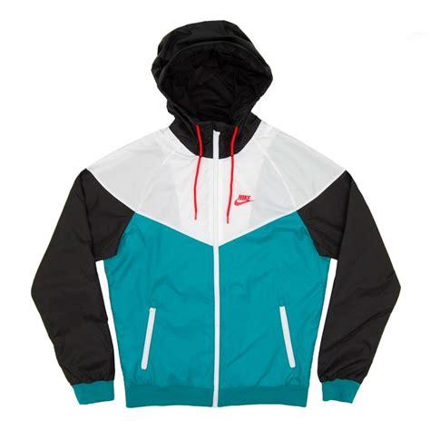 Nike Windrunner Jacket Teal White Black - Mens Clothing from Attic Clothing UK