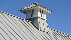 Gray aluminum cupola on metal roof riverside boston ma for Cupola on metal roof