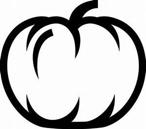 Pumpkin, Outline, Rubber, Stamp