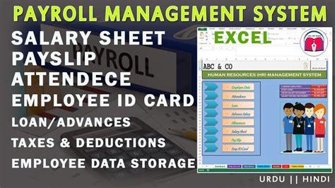 payroll salary sheet payslip id card