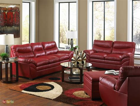 leather sofa set for living room casual contemporary red bonded leather sofa set living