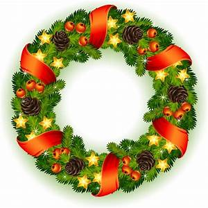 Vector christmas wreath hung gifts Free vector in ...