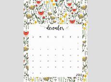 2018 Free Printable Monthly Calendar Calendar 2018