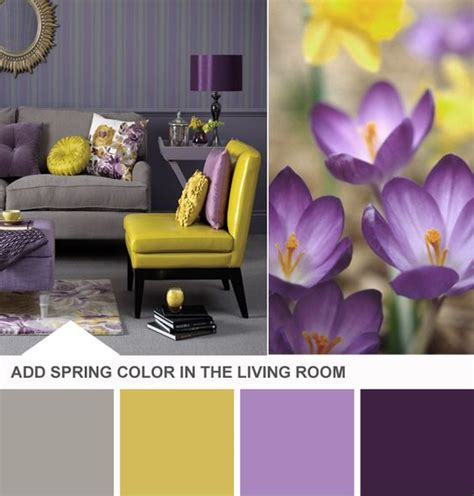 Yellow Grey And Purple Living Room by Purple Yellow Gray Combo Diy Home Decor