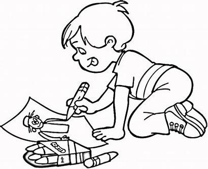 Coloring Drawings Children Drawing Boy Child Blogthis