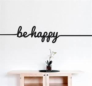 Be Happy Line Sticker - TenStickers