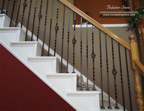 Banister And Baluster by High Quality Powder Coated Iron Stair Parts Banisters