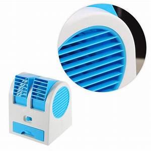 Mini Ventilator Usb : portable usb ultra quiet mini air conditioning fan ventilator dual bladeless no leaves design ~ Orissabook.com Haus und Dekorationen
