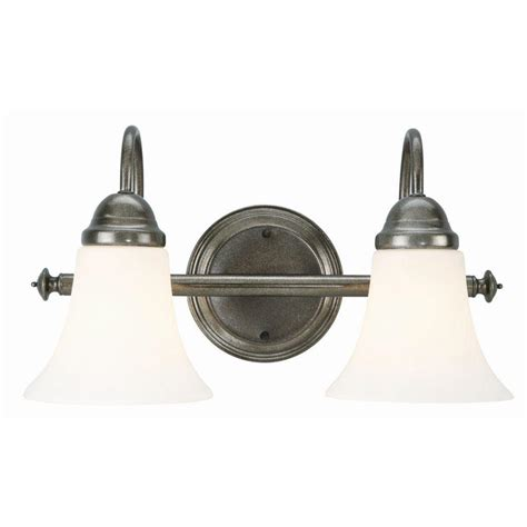 design house cabriolet 2 light rustic pewter wall mount
