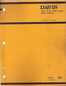 Davis Task Force 1000 Super Trencher Parts Manual