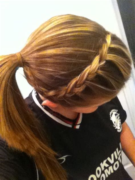 quick  easy updo  school sports    lazy volleyball hairstyles sporty