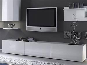 Meuble Tele Suspendu : meuble tv italien pas cher ~ Teatrodelosmanantiales.com Idées de Décoration