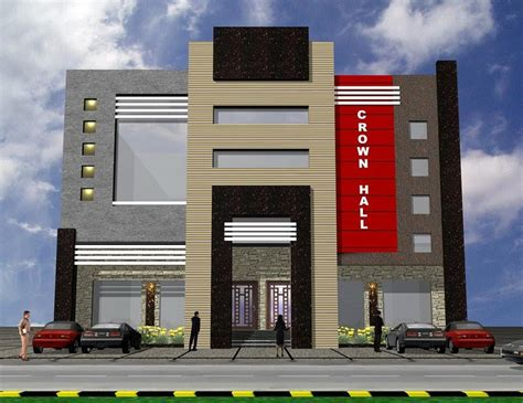 3d Front Elevation Of Plaza