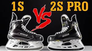 Bauer Supreme 1S vs 2S Pro Hockey Skates REAL detailed ...