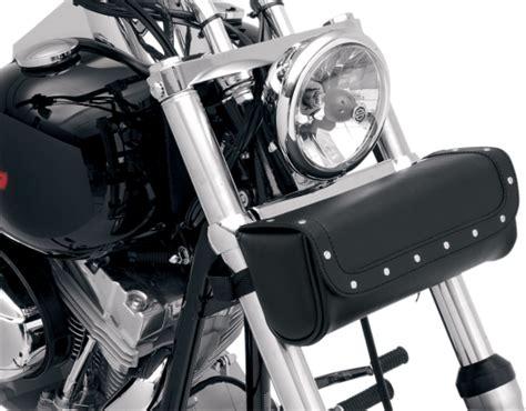 Saddlemen Front Fork Black Rivet Highwaymen Leather