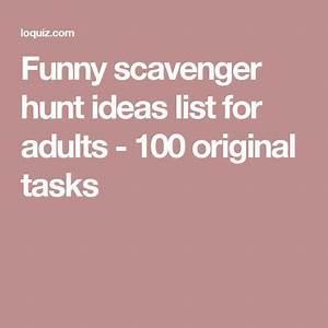 Funny scavenger hunt ideas list for adults 100 original