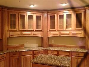hickory grove square in spice finish by shenandoah With kitchen cabinets lowes with atlanta united sticker