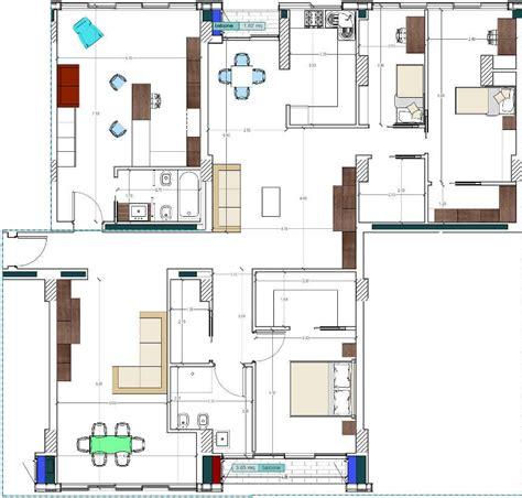 Planimetria Da Letto - progetto 200 mq architettura a domicilio 174