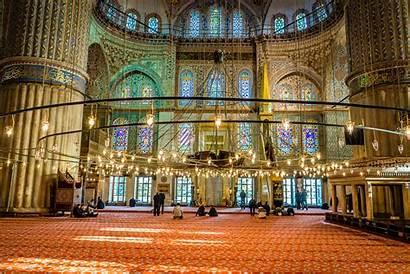 Mosque Istanbul Prayer Turkey Interior Masjid During