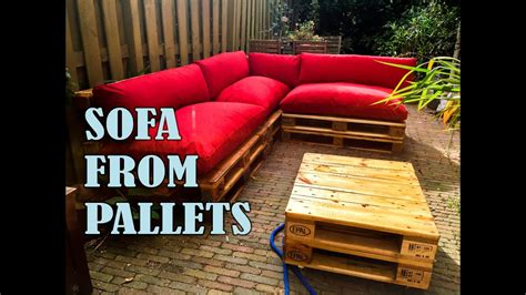 pallet sofa step  step  manual youtube
