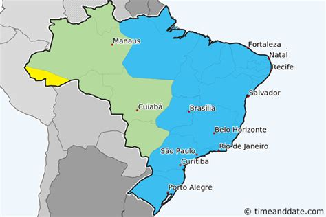 brazil time zone map compared to usa