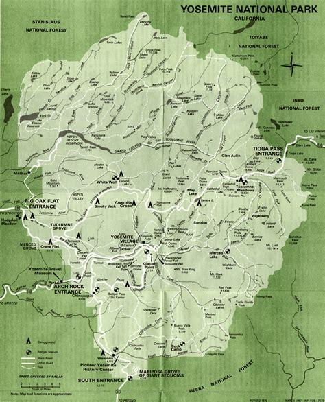 yosemite historic maps yosemite library
