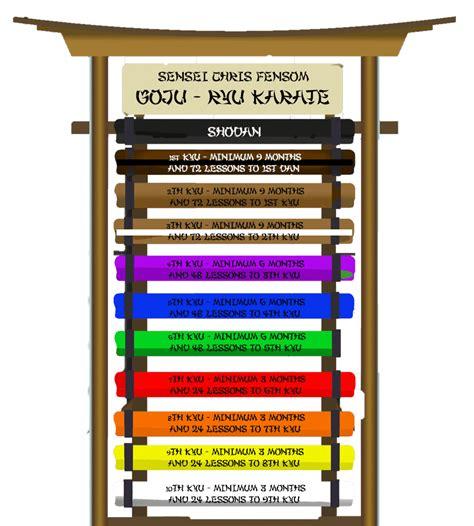 belt colors in karate belt colours a1 martial arts