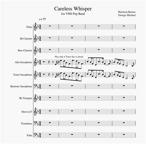 Download or print george michael careless whisper sheet music notes and chords arranged for alto sax solo. Careless Whisper Sheet Music Composed By Harrison Barnes ...