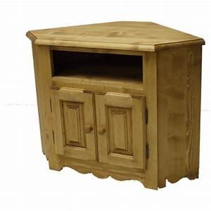 Meuble D Angle : meuble d angle tv 2 portes 1 niche ~ Teatrodelosmanantiales.com Idées de Décoration