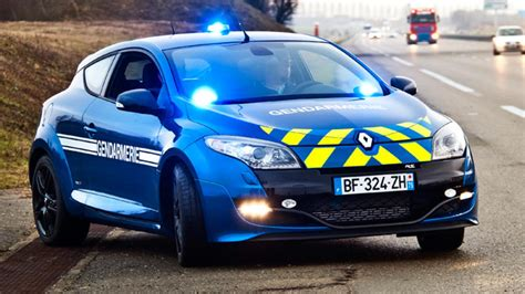 french police  megane rs top gear