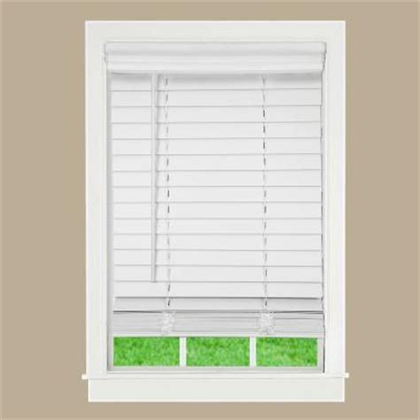 wood blinds home depot lift window treatment white 2 in cordless faux