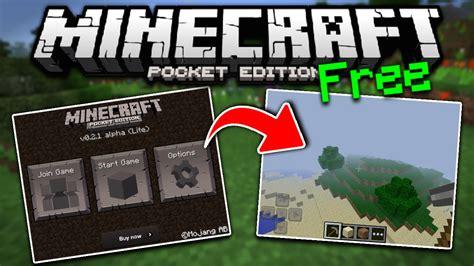 minecraft pe  version  mcpe lite version pocket edition youtube