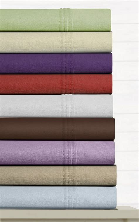 tribeca living luxury solid cotton flannel extra deep